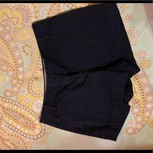 """J Crew 3"""" navy chino shorts"""